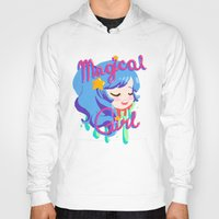 magical girl Hoodies featuring Magical Girl by Ferret Party