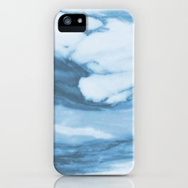 Marble Blue Ocean iPhone Case