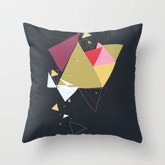 Exploding Triangles//Four Throw Pillow