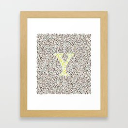 """Y"" Eye Test Letter Full Framed Art Print"