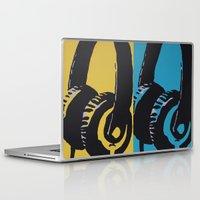 headphones Laptop & iPad Skins featuring Headphones by Brianms18