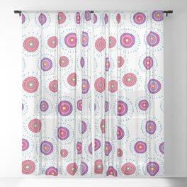 Sweet Lollipop Dandelion Sheer Curtain