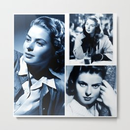Ingrid - Ladies and Gentlemen, Ingrid Bergman Metal Print