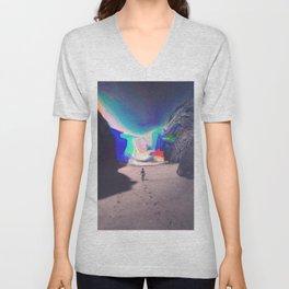Rainbow Waves Unisex V-Neck