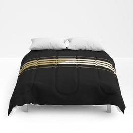 TEAM COLORS 5...Gold,black white Comforters