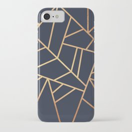 Copper and Midnight Navy iPhone Case