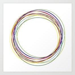 color circles Art Print