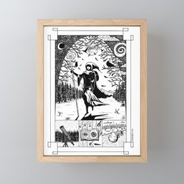 Wanderer. By exploring comes knowledge and follows creation. Framed Mini Art Print