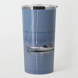 Sailboat Motors up the River Travel Mug