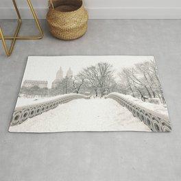 Winter Snow in New York City Rug