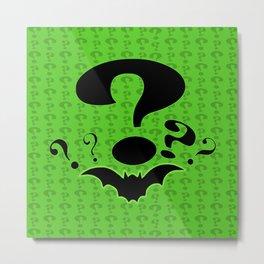 Riddler Green Metal Print