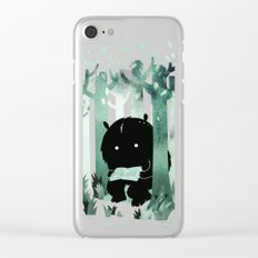 A Quiet Spot (in green) Clear iPhone Case