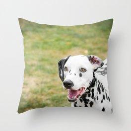 Snowflake the Dalmatian Throw Pillow