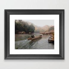longtail boat Framed Art Print