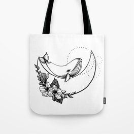 Whale on the Moon Tote Bag