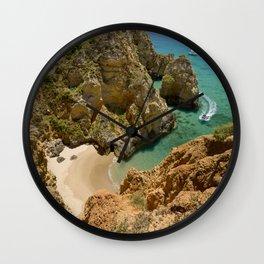 Small cove near Lagos, Portugal Wall Clock