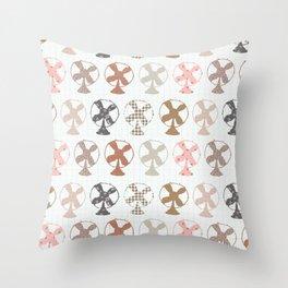fans pattern Throw Pillow