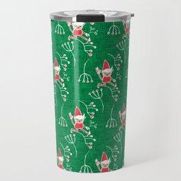 Santa Little Helper Green #Holiday #Christmas Travel Mug