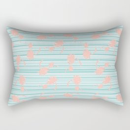 Minty palm Rectangular Pillow