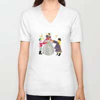 snowman V-neck T-shirts featuring Snowman by Design4u Studio