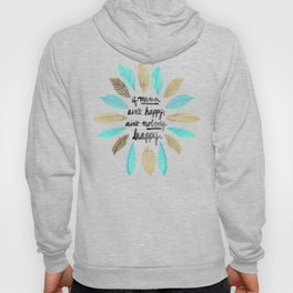 If Mama Ain't Happy – Turquoise & Gold Palette Hoody