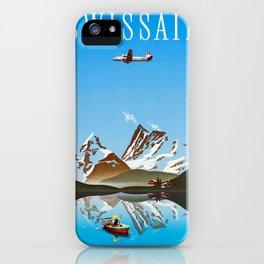 Alps - Vintage Swissair Travel Poster iPhone Case