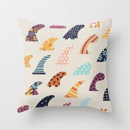 Single fin Throw Pillow