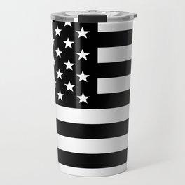 Black And White Stars And Stripes Travel Mug