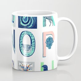 Alphabet Letter Decor Design Art Pattern Coffee Mug