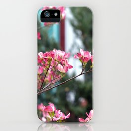 Pink Dogwood iPhone Case