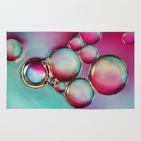 oil Area & Throw Rugs featuring H2O & Oil by Sharon Johnstone