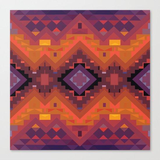 American Native Pattern No. 35 Canvas Print