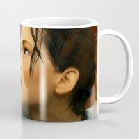 katniss Mugs featuring Katniss by Kate Dunn