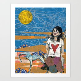 Lauren in town Art Print