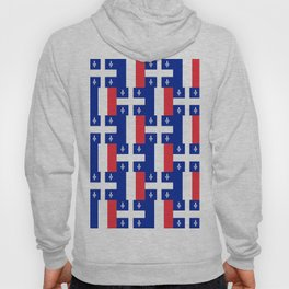 Mix of flag : France and Quebec Hoody