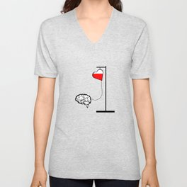 Brain and heart Unisex V-Neck