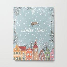 winter time Metal Print