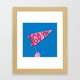 Go You Framed Art Print