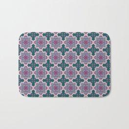 Floral ornamet tile Bath Mat