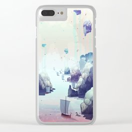 Edge of the Earth Clear iPhone Case
