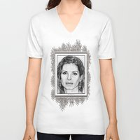sandra dieckmann V-neck T-shirts featuring Sandra Bullock in 2005 by JMcCombie
