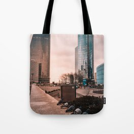French Pigeon Line Up Tote Bag