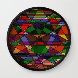 Stain Glass Mosaic Dark Wall Clock