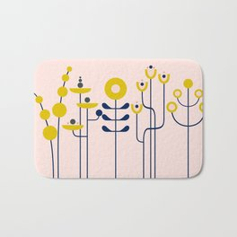 very graphis flower - rosé Bath Mat