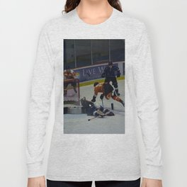 Dive for the Goal - Ice Hockey Long Sleeve T-shirt