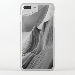 Canyon (Black and White) Clear iPhone Case