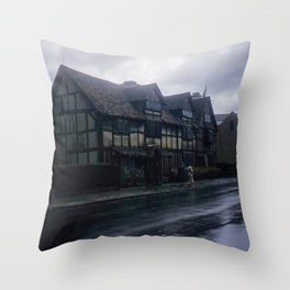 England Art Print * Vintage Photo * 1950's * Shakespeare * Home * Kodachrome * European * Color Throw Pillow