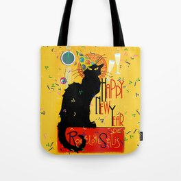 Chat Noir New Years Party Countdown Tote Bag