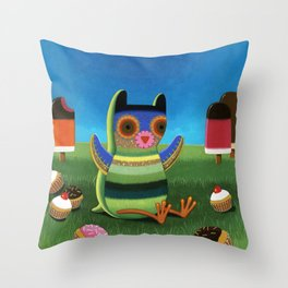 treat time Throw Pillow