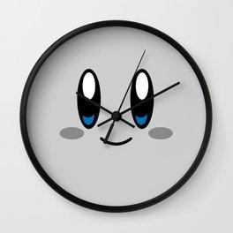 Kirby Face (Gray) Wall Clock